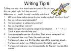 writing tip 6