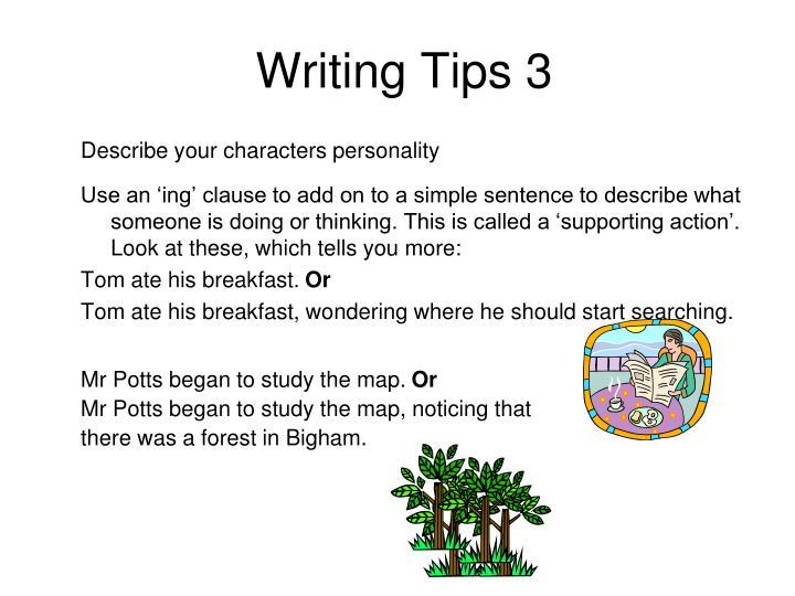 Writing Tips 3