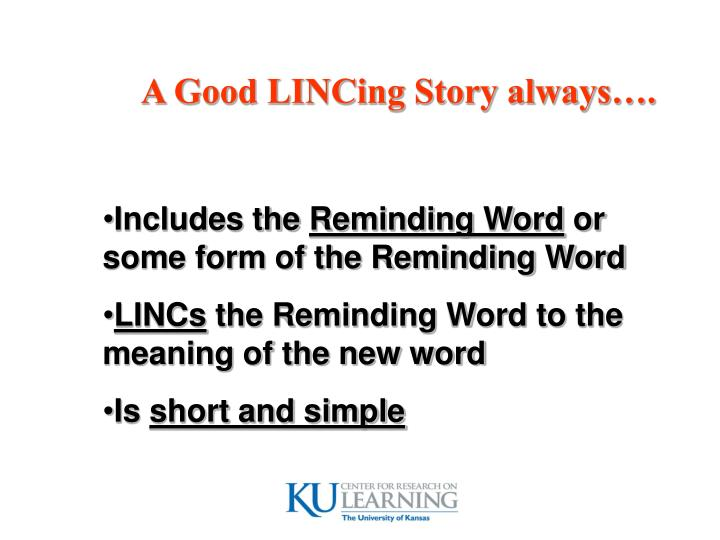 A Good LINCing Story always….