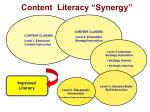 content literacy synergy