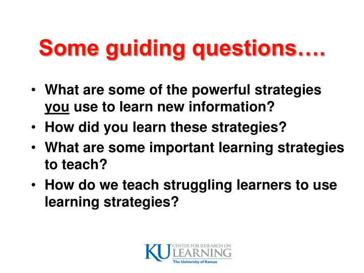 Some guiding questions….