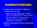 assignments of mortgages