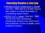 emerging surplus lien law