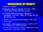 enforcement of priority2