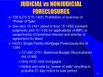 judicial vs nonjudicial foreclosures