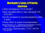 mechanic s liens a priority exercise