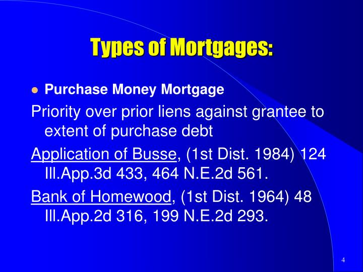 Types of Mortgages:
