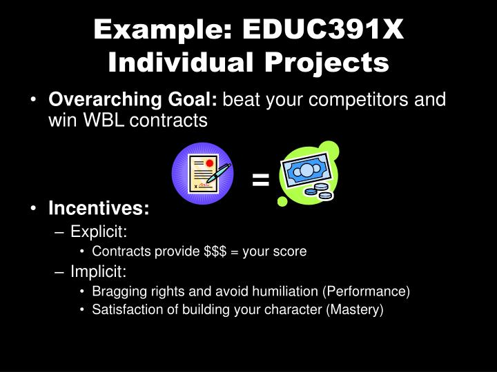 Example: EDUC391X