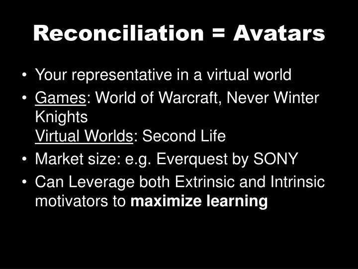 Reconciliation = Avatars