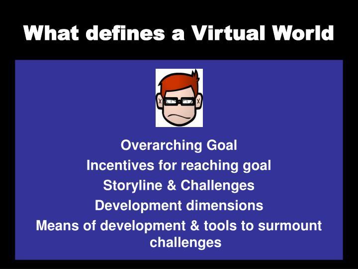 What defines a Virtual World