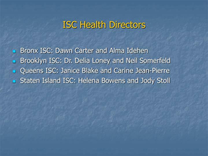 ISC Health Directors