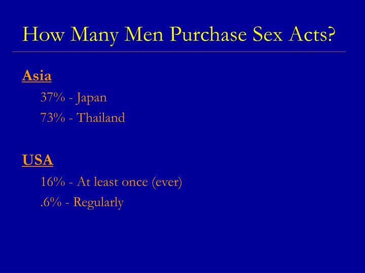 How Many Men Purchase Sex Acts?