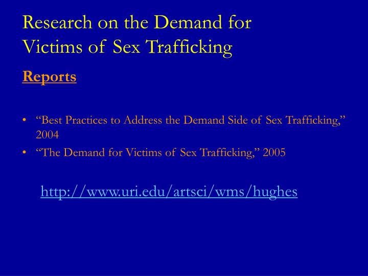 Research on the Demand for