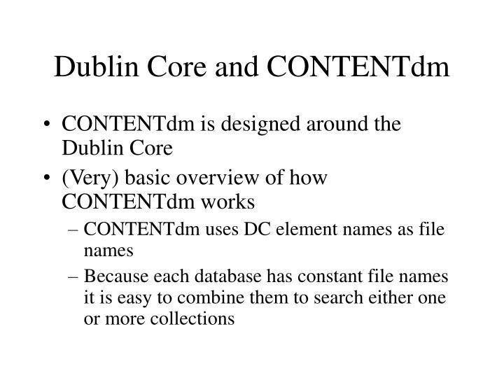 Dublin Core and CONTENTdm