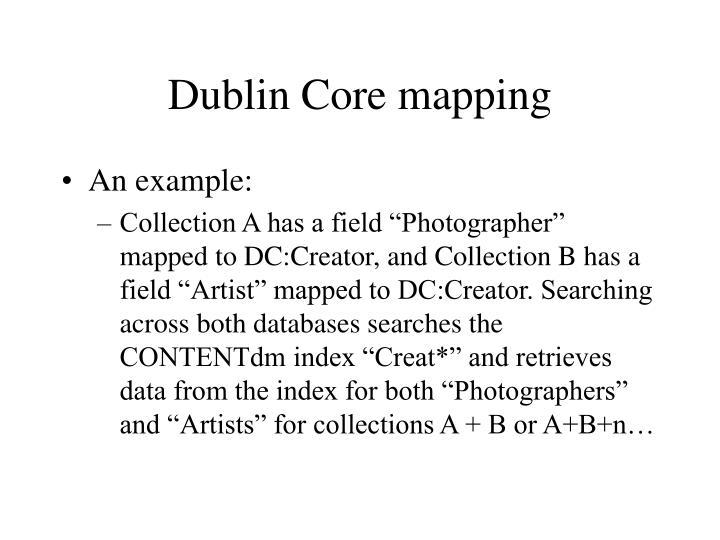 Dublin Core mapping