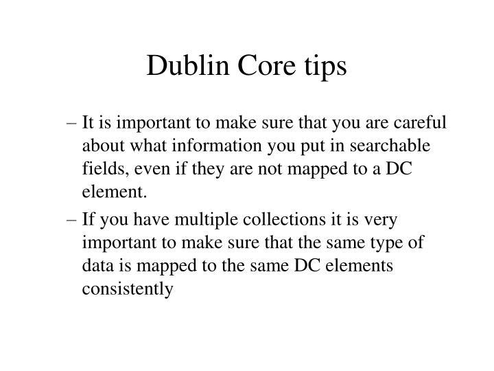 Dublin Core tips