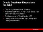 oracle database extensions for net