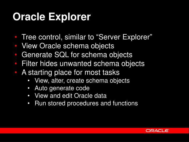 Oracle Explorer