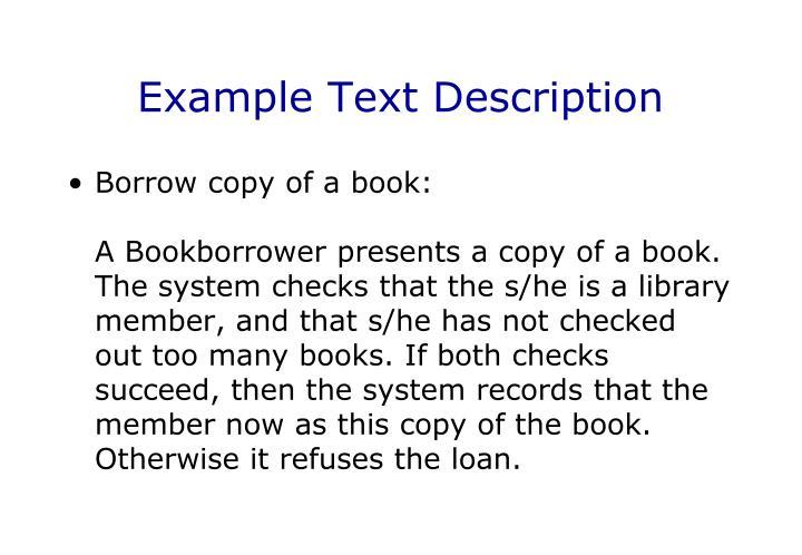 Example Text Description
