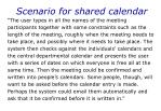 scenario for shared calendar