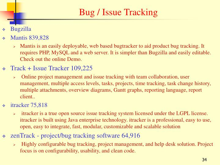 Bug / Issue Tracking