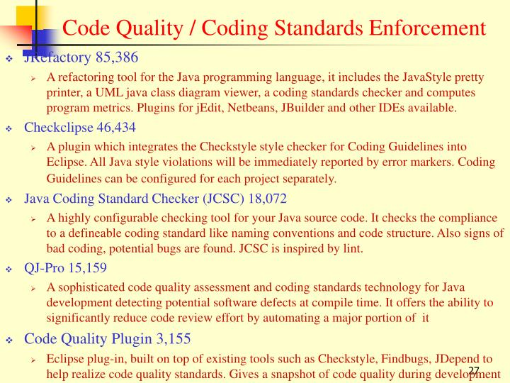 Code Quality / Coding Standards Enforcement