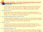 code quality coding standards enforcement