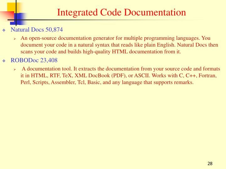 Integrated Code Documentation