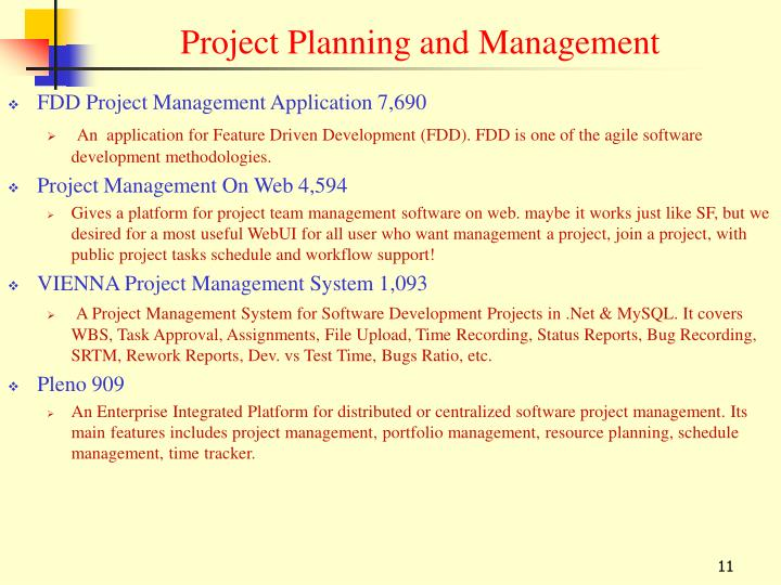FDD Project Management Application 7,690
