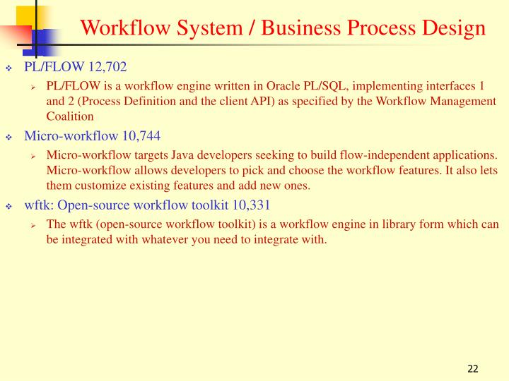 Workflow System / Business Process Design