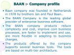baan company profile