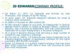 jd edwards company profile