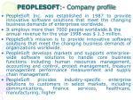 peoplesoft company profile