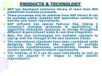 products technology