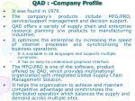 qad company profile