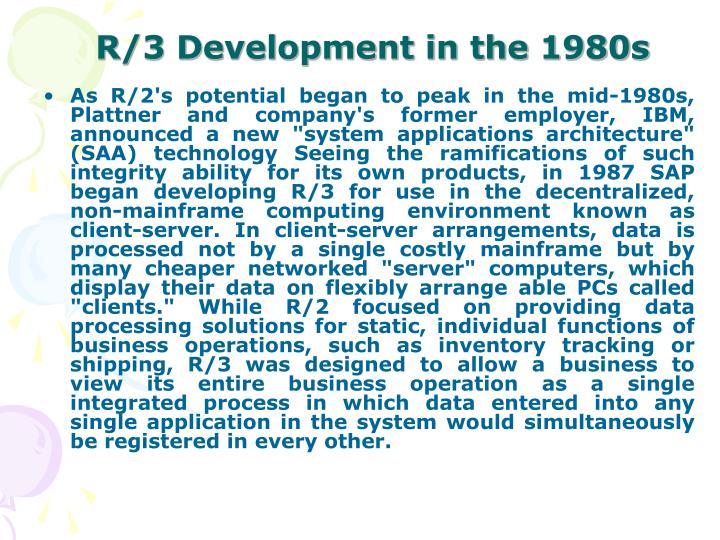 R/3 Development in the 1980s