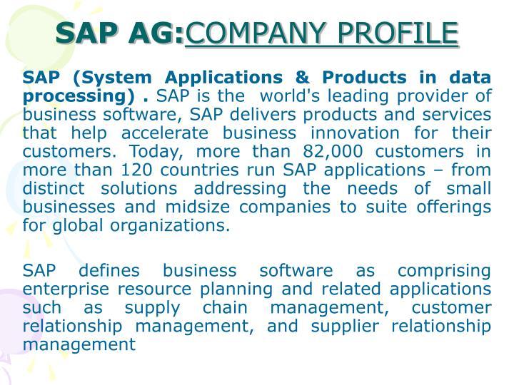 SAP AG: