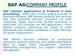 sap ag company profile