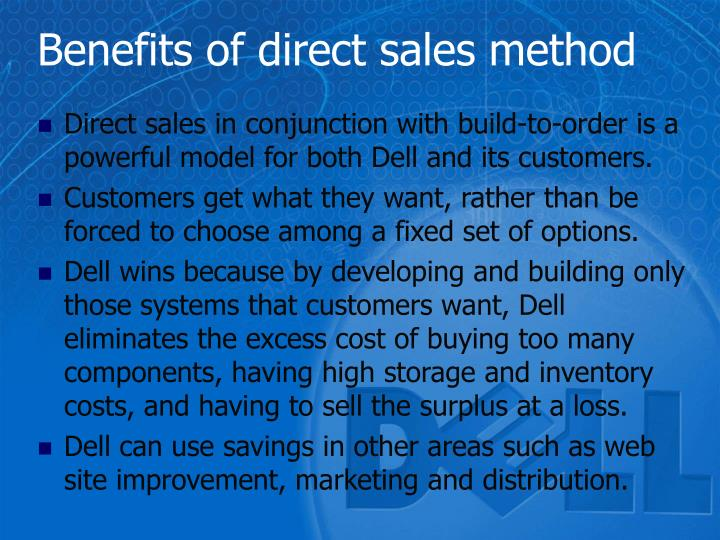 Benefits of direct sales method