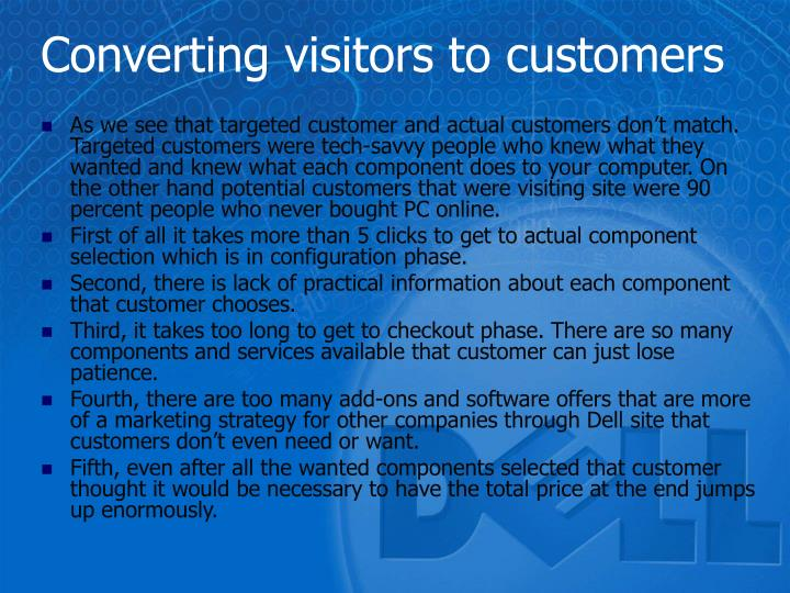 Converting visitors to customers