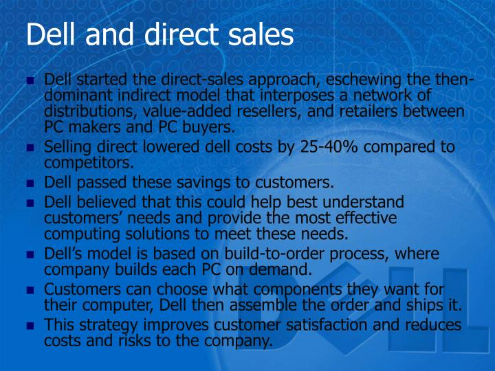 Dell and direct sales