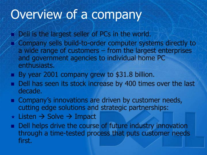 Overview of a company