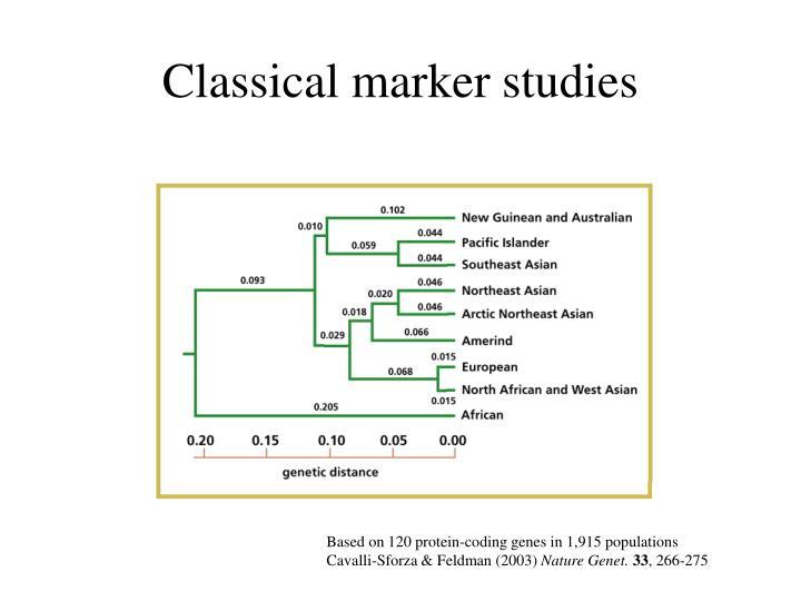 Classical marker studies