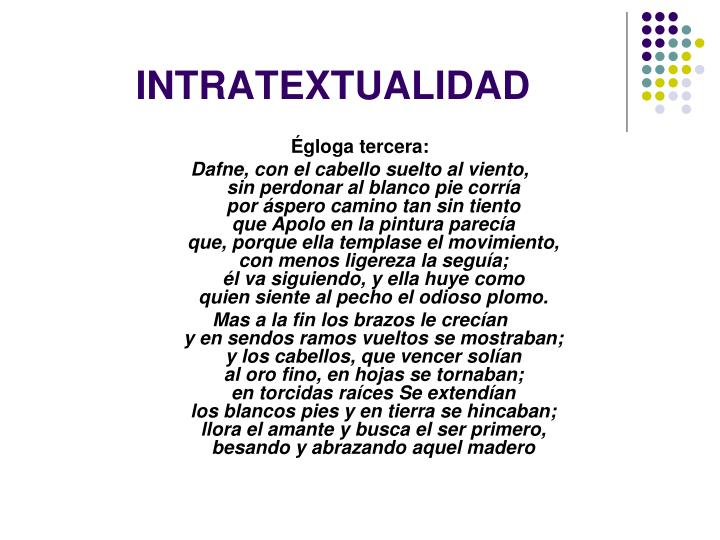INTRATEXTUALIDAD