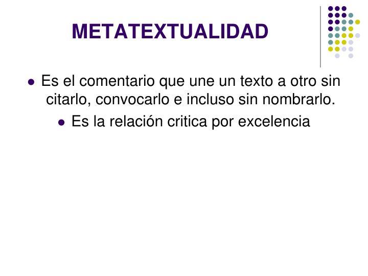 METATEXTUALIDAD
