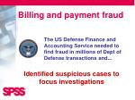 billing and payment fraud