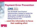 payment error prevention