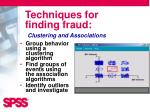 techniques for finding fraud2