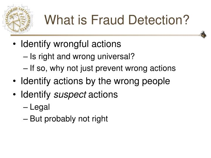 What is fraud detection