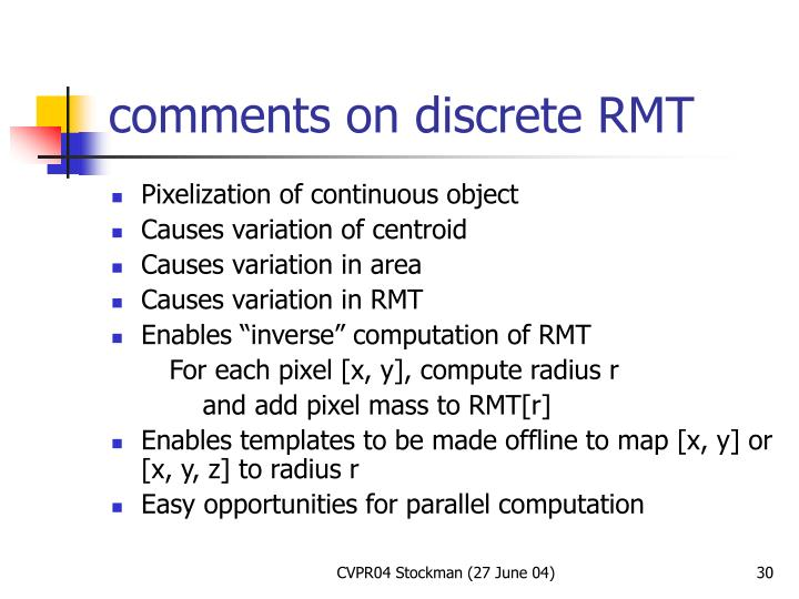 comments on discrete RMT
